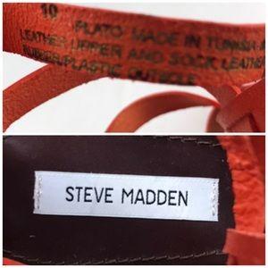 Steve Madden Shoes - Steve Madden Orange Plato Gladiator Sandals